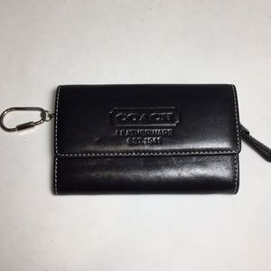 Coach Leatherware Black Key Ring Wallet Coin Pouch